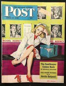 SATURDAY EVENING POST - April 17 1943 - Al Moore Cover / RUSSIAN GENERALS