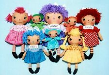 Primitive Pattern Color Me Annie Colorful dolls to make in several sizes # HH