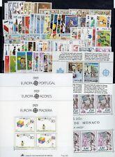 EUROPA: ANNEE 1989 QUASI COMPLETE DE 75 TIMBRES+ 5 BLOCS NEUF** Cote: 278,00 €