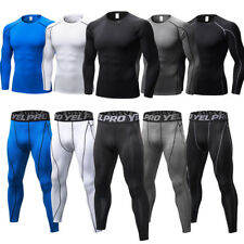 Compression Base layers Pants Long Sleeve Shirt Yoga Workout Running Top Dri fit
