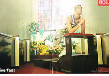 PUBLICITE ADVERTISING 094  2008   DIESEL  VETEMENTS SPORT ( 2 pages) PRAY RUNNER