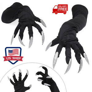 Halloween Ghost Claws Gloves Scary Fancy Dress Costume Cosplay Festival Props