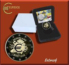2 Euro € Gedenkmünze Niederlande 2012, PP, 10 Jahre Euro