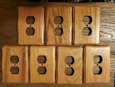 Wood wall plates outlet switch covers