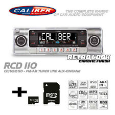Caliber RCD 110 Autoradio CD MP3 Tuner Radio USB SD Retro Look Silber RCD110