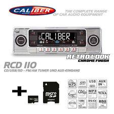 Caliber RCD 110 Autoradio CD MP3 Tuner Radio USB SD Retro Look Silber RCD110