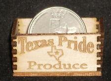 Dollhouse Miniature Texas Pride Produce Crate 1:12 Texas Vegetables Fruit Farm