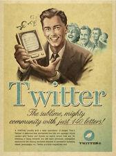 "Vintage Twitter Ad, Photo Print 14 x 11"""