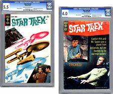 STAR TREK #4 & 5 CGC 5.5-4.0 *CLASSIC TOS TV SERIES* ADAPTATION GOLD KEY 1969