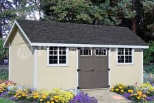 Shed Plans / Blueprints 12' x 20' Gable Roof Style #D1220G, Free Material List