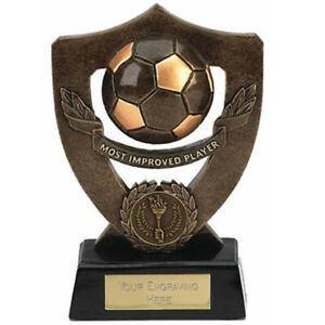 Most improved player Football Trophy 17.5cm FREE Engraving up to 45 Letters A806
