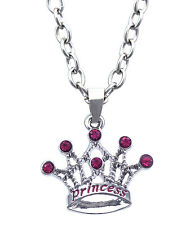 PRINCESS Word Crown Tiara Pendant Necklace Valentine's Day gift for Girl n2073p