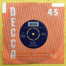 Tom Jones - Delilah / Smile - Decca F.12747 Ex-Condition