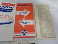 16 Airline Brochures, Time Tables, 1950-60 Lot 9