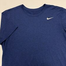 Nike Dri Fit T Shirt Adult M L Blue Activewear Sports Running Gym Work Out