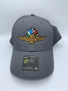 Indianapolis Motor Speedway Cap IMS Wings Wheel & Flags Logo Nike Adjustable Hat
