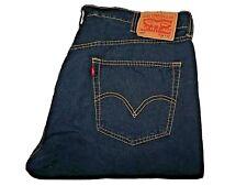 """LEVIS 501 Jeans Loose Straight Blue Stripe Cotton SIZE W36 L32 Waist 36"""" Leg 32"""""""