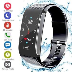 Bluetooth Smart Bracelet Fitbit-Heart Rate Monitor Watch Gym Pedometer Tracker