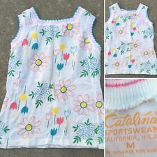 Vintage Catalina Sportswear California Usa Sleeveless Top Floral Print M