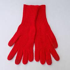 NWOT J Crew Ribbed Gloves One Size Red Poppy HO14 $32.50 B5244