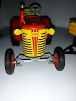Vintage TIN WIND UP TOY TRACTOR AND TRAILER ZETOR FROM CZ