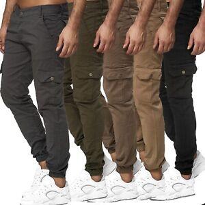 Herren Cargo Jogger Chino Stretch Hose  Sweatpants Sweathose  12