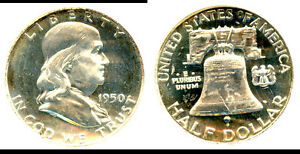 1950 50C PR65CAM NGC/CAC-95% WHITE NICE L@@KING- FRANKLIN HALF DOLLAR