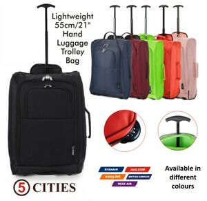 Ryanair EasyJet Approved Hand Cabin Luggage Trolley Wheeled Flight Bag Suitcase