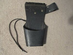 Vintage Archery Black Leather Belt/Hip Arrow Quiver