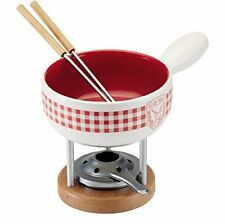 Kuhn Rikon Fondue di formaggio Set 5-tlg. Mini quadrettato Hirsch 3 x