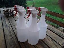 5x Sprühflasche leer mit Sprühkopf Flasche 1000 ml Zerstäuber Schäumer