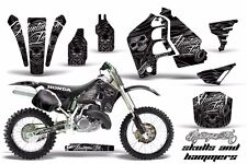 Honda CR500 With # Plate Graphics Kit Dirt Bike Wrap MX Decals 1989-2001 HISH K