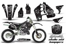 Graphics Kit MX Decal Wrap + # Plates For Honda CR500 CR 500 1989-2001 HISH BLK