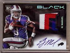 2013 PANINI BLACK EJ MANUEL RC AUTO 4 COLOR PATCH 06/10!!