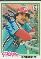 Rich Hebner 1978 Topps Autograph #26 Phillies