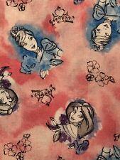 Disney Princess Sketch Cinderella Jasmine Pink Cotton CEA Fabric 18x21 FQ