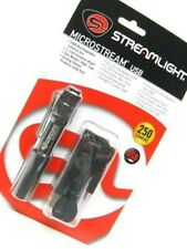Streamlight Black Microstream LED 250 Lumen Flashlight w/ Usb Cord + Lanyard