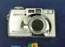 PENTAX OPTIO 55O DIGITAL CAMERA, WITH MANUAL, MEMORY CARDS, CASE
