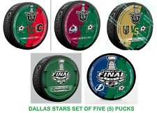 2020 DALLAS STARS STANLEY CUP FINAL PUCK SET OF (5) WESTERN CONFERENCE CHAMPIONS