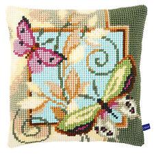 Vervaco Cross Stitch Cushion Kit: New Design PN-0154959 Deco Butterflies (2)