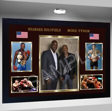 Mike Tyson vs. Evander Holyfield Boxing signed autograph Framed pre-print poster