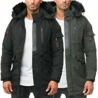 Cipo & Baxx Herren Winter Jacke Warm Streetstyle Kapuze Kunstfell Dope Fresh