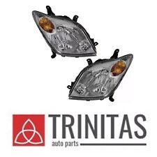 For SET 2004-2005 SCION Xa Right+Left Headlights Headlamps Driver & Passenger