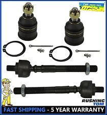 96-00 Honda Civic Acura EL 4 Pc Kit Front Lower Ball Joints & Inner Tie Rod End