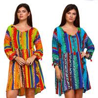 VELEZRA Womens Bohemian Tassel Boho Flowy Pheasant Long Sleeve Dress S M L