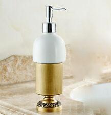 Bathroom Bath Shower Soap Dispenser Holder Liquid Shampoo Bottle Brass Ceramic