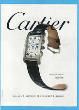 BELLEU997-PUBBLICITA'/ADVERTISING-1997- CARTIER TANK AMERICAINE