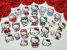 24pc/set, Hello Kitty patch, Small patch for girls, Iron on Embroidered