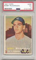 1957 TOPPS #286 BOBBY RICHARDSON,PSA 3 VG, ROOKIE,RC, NEW YORK YANKEES,  L@@K !