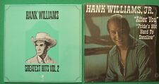 "2 Vinyl 12"" LP's.HANK WILLIAMS Greatest Hits Vol.2. HANK WILLIAMS JR. After you"